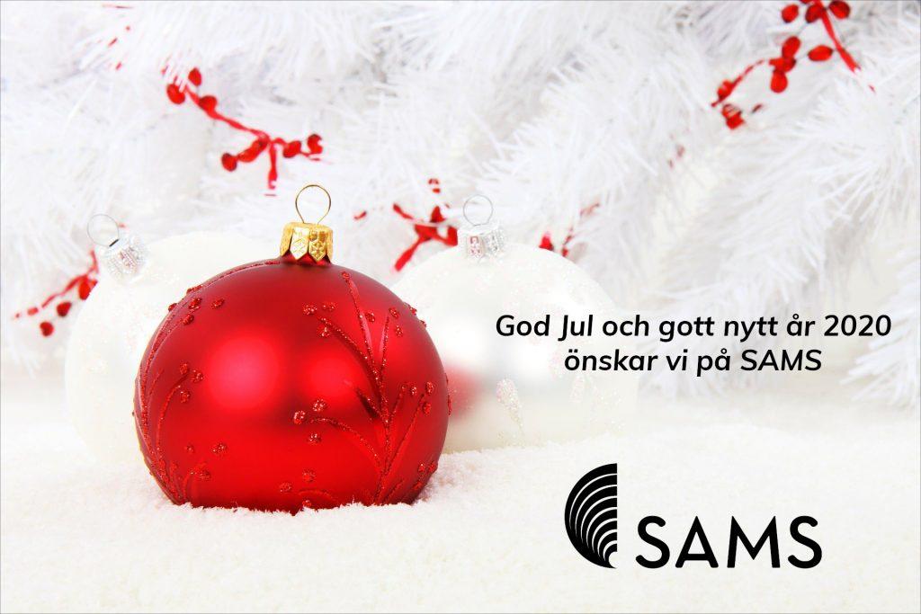 God jul och gott nytt år 2020 önskar vi på SAMS