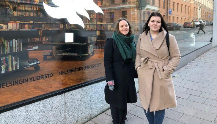 Bild på Sofia Lindgren och Heidi Svenfelt
