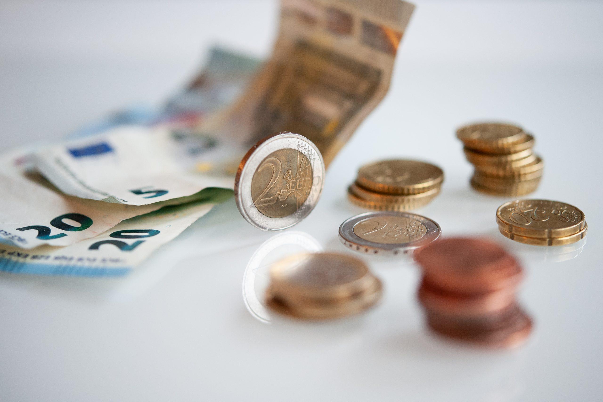 Illustrationsbild på pengar.