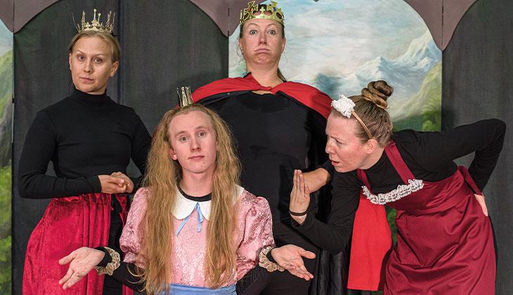 Bild från pjäsen Prinsessan som inte kunde tala.